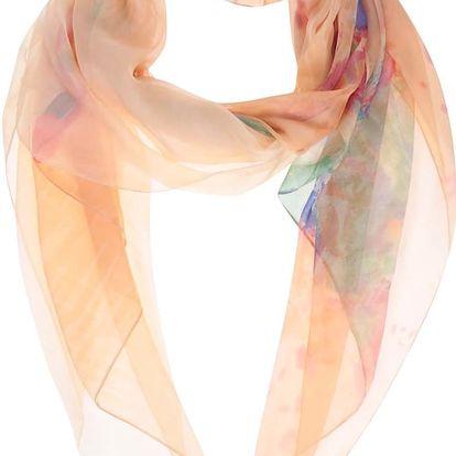 Meruňkový vzorovaný šátek INVUU London