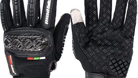 Rukavice na motorku s ochranou kloubů - 4 velikosti - poštovné zdarma