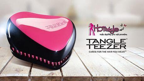Originální cestovní růžový kartáč Tangle Teezer včetně poštovného pro silné, zdravé a lesklé vlasy