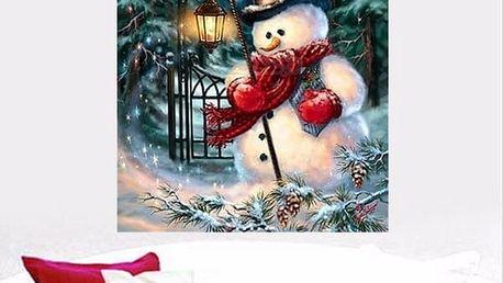 Sada pro výrobu vánočního 5D obrazu - 25 x 20 cm - poštovné zdarma