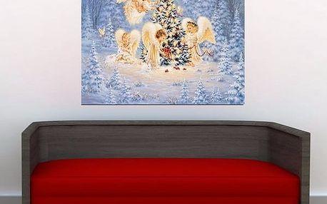 Vánoční obraz andílci - udělej si sám