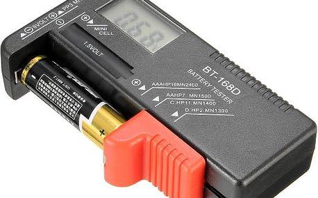 BT-168D univerzální tester baterií s LCD displejem - poštovné zdarma