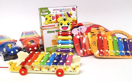 Dětský xylofon s paličkami ve 3 variantách