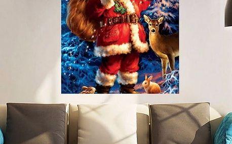 Vánoční obraz Santa Claus - udělej si sám - poštovné zdarma