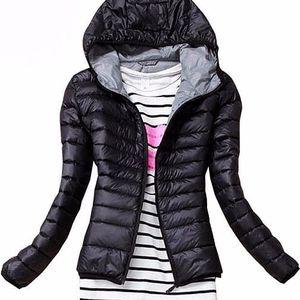 Dámská podzimní prošívaná bunda s kapucí - poštovné zdarma