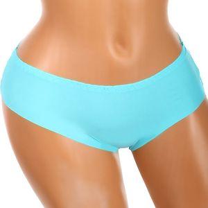 Bezešvé kalhotky s krajkou na zadním dílu modrá