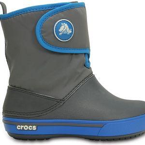 Crocs Crocband II.5 Gust Boot Kids Charcoal/Ocean, dostupné velikosti 27-30, 33-34