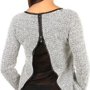Krásný svetřík/mikina s vykrojenými zády