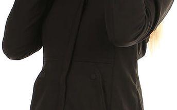 Softshellová bunda áčkového střihu černá