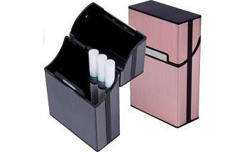 Praktické pouzdro na cigarety. Různé barvy k výběru - růžová, modrá,stříbrná