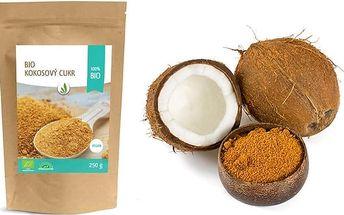 250 g bio kokosového cukru pro zdravější slazení