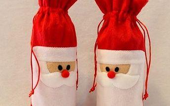 Vánoční obal na láhev