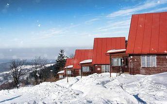 4–5denní silvestrovský pobyt v chatkách nebo horské chatě Arnika v Karpatech pro 2