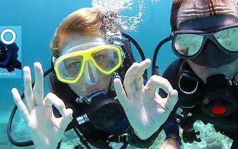 2měsíční kurz potápění pro začátečníky: 4 hodiny teorie a ponory v bazénu i ve volné vodě