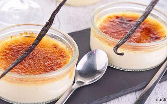 Crème brûlée a horký nápoj pro dva
