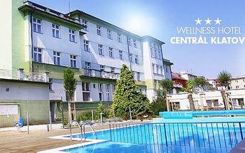 Šumava - Klatovy, 3 až 7 dní pro dva v 3* hotelu: polopenze, sauna a vyhřívaný bazén