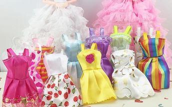 Šaty pro panenky v různých provedeních - 10 ks - poštovné zdarma