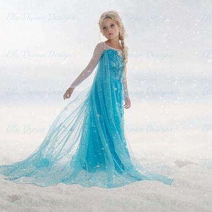 Ledové království - Frozen! Pohádkové šaty princezny Elsy ve více velikostech vč. poštovného