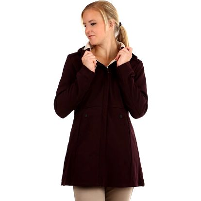 Softshellová bunda áčkového střihu tmavě fialová