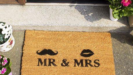 Rohožka Mr and Mrs, 40x60 cm - doprava zdarma!