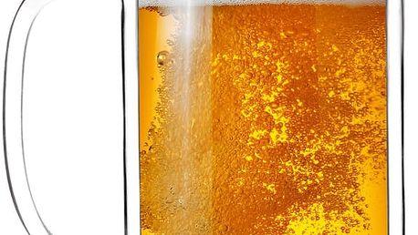 Dvojitá sklenice na pivo Amo, 500 ml - doprava zdarma!