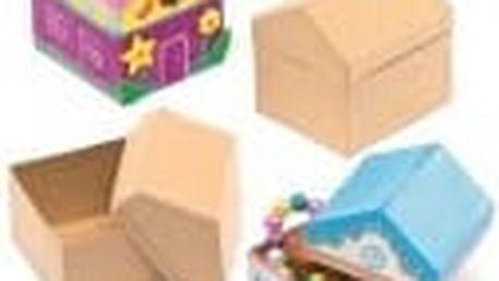 Krabičky k dotvoření - domečky (4 ks)