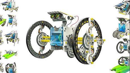Chytrý obojživelný solární robot, stavebnice 14v1