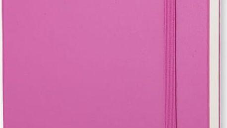 Zápisník Moleskine Hard 13x21 cm, růžový + čisté stránky - doprava zdarma!