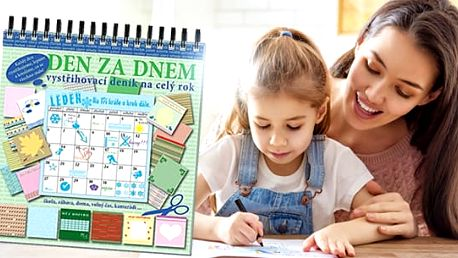 Kreativní Deník pro děti včetně poštovného: vystřihování, kreslení, lepení na každý den