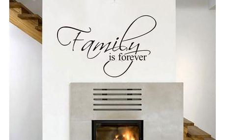 Samolepka na zeď FAMILY IS FOREVER