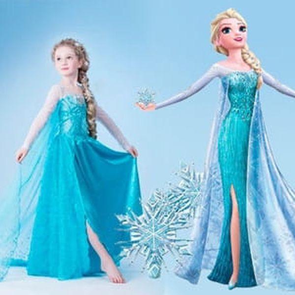 Pohádkový kostým Frozen princezna Elsa z Ledového království s doručením zdarma2