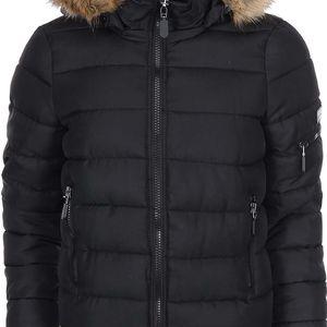 Černá prošívaná bunda s kožíškem Vero Moda Sandra
