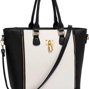 Dámské černobílá kabelka Kethy 031L