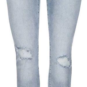 Světle modré slim džíny s potrhanými detaily Vero Moda Seven