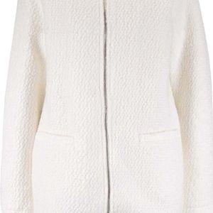 Krémový kabát na zip VILA Astal