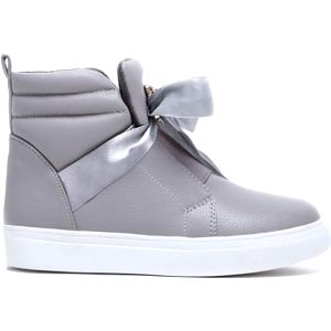 Dětské šedé kotníkové boty Happy 2038a