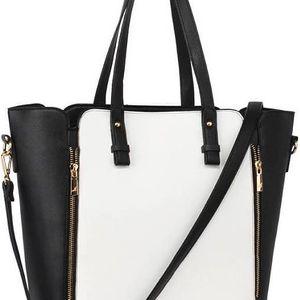 Dámská černobílá kabelka Fabiano 502
