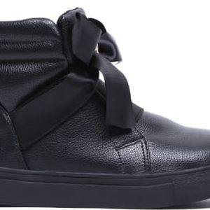 Dětské černé kotníkové boty Happy 2038a
