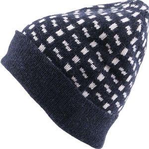 Tmavě modrá vzorovaná čepice Selected Hobson