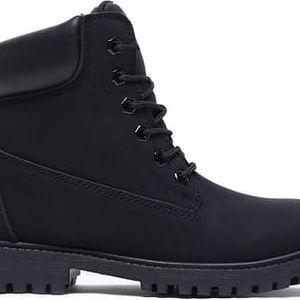 Dětské černé kotníkové boty Fanny 8161