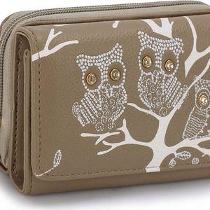 Dámská peněženka Owl 1045 světle hnědá