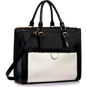 Dámská černobílá kabelka Zaia 366a