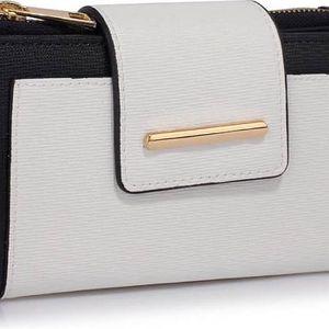 Dámská černobílá peněženka Sheera 1079