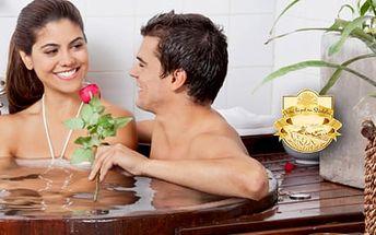 Luxusní relaxační koupel pro 2 osoby s výtažky levandulového aroma + levandulový nápoj