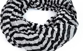 Šátek Stripes Black