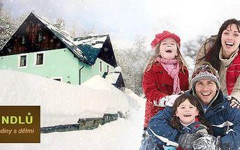 Krkonoše, rodinná dovolená na 3 až 5 dní s polopenzí pro 2 dospělé a 2 děti do 12 let zdarma
