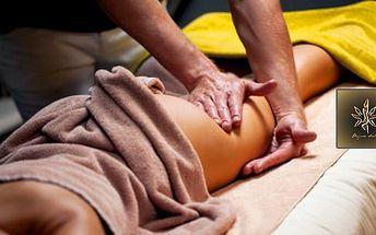60min. ruční lymfatická masáž celého těla + ruční uvolnění mízních uzlin - 1 či 5 masáží