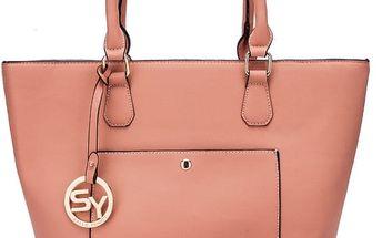 Dámská růžová kabelka Medisony 2067