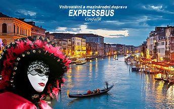 Karneval Benátky, únor 2017: poznávací zájezd na 4 dny pro 1 osobu vč. dopravy a 3* ubytování