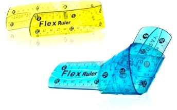 Nezlomitelné pravítko Flexi 15 cm